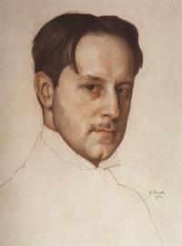 .А. Сомов. Портрет М.В. Добужинского. 1910 год