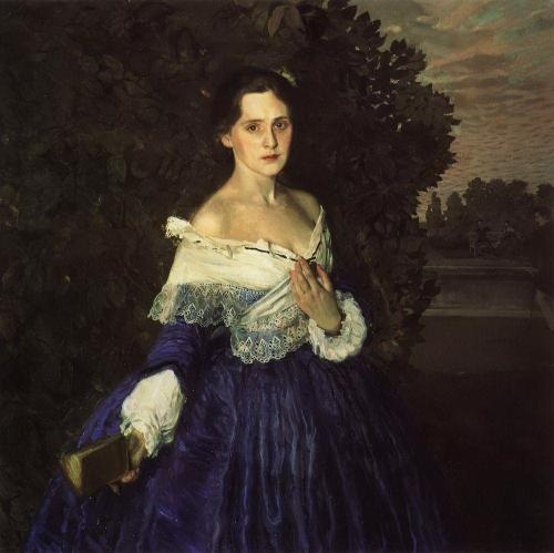 Дама в голубом (Портрет художницы Е. М. Мартыновой). 1897-1900