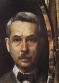 Автопортрет в зеркале, 1928, Музей Ашмолеан, Оксфорд