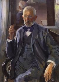 Портрет А. И. Сомова, отца художника.1897 г.